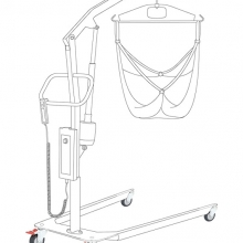 Operated patient lift