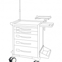 Medical trolley (plastic)